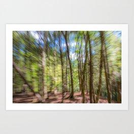 Forest Motion Blur Art Print