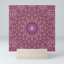 Colorful Girly Lace Garden Mandala Mini Art Print