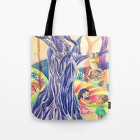 india Tote Bags featuring India by ArtByG