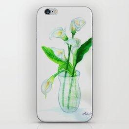 White Calla Lilies iPhone Skin