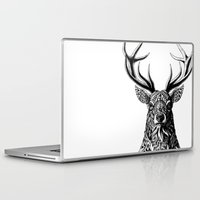 bioworkz Laptop & iPad Skins featuring Ornate Buck by BIOWORKZ