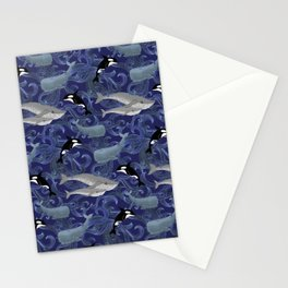 Beautiful Ocean Giants - purple Stationery Cards