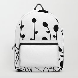 Abstract black flowers Backpack