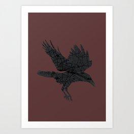 London, as the Raven Flies Art Print