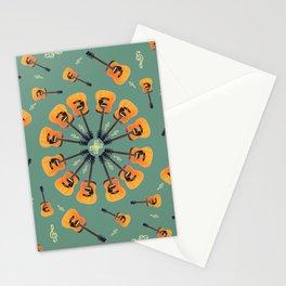 Guitar Spiral Design Stationery Cards