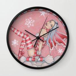 Peppermint Fairy Wall Clock
