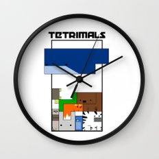Tetrimals Wall Clock