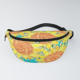 sunflower field Fanny Pack
