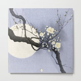 Full Moon and blossom Metal Print