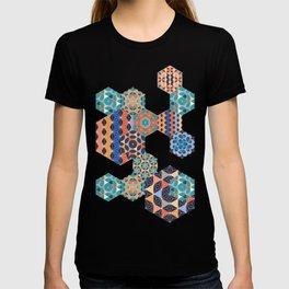 Hexagons Tiles (Colorful) T-shirt