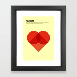 Vitalism Framed Art Print