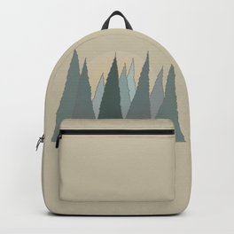 Evergreen Trees Rising in the Woods with the Sun Backpack