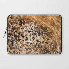 Rustic Country Western Texas Longhorn Cowhide Rodeo Animal Print Laptop Sleeve