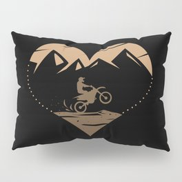 I Love Motocross Pillow Sham