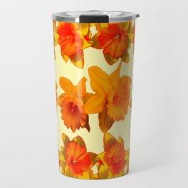 CREAM COLOR GOLDEN DAFFODILS GARDEN ART DESIGN Travel Mug
