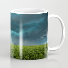 April Showers - Colorful Stormy Sky Over Lush Field in Kansas Coffee Mug