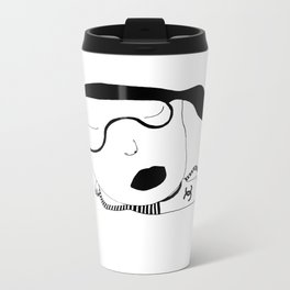 Miss Chanel Is Taking An Expensive Nap. Shhh... Metal Travel Mug