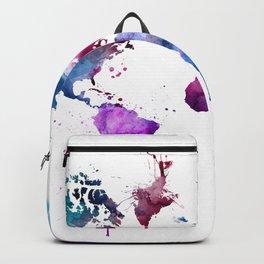 Blue Pink Map Backpack