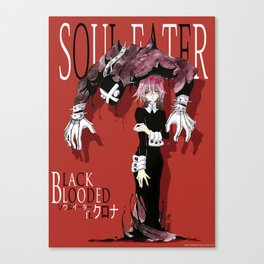 Black Blooded / Red Canvas Print