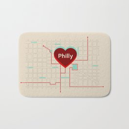Philly In Transit Bath Mat