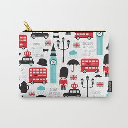 London icons illustration pattern print Carry-All Pouch