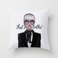 That's__folks! Throw Pillow