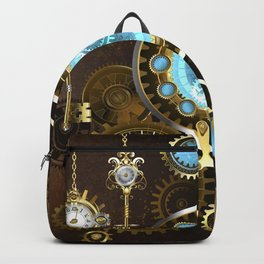 Rusty Background with Turquoise Lenses Backpack