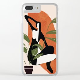 Abstract Female Figure 20 Clear iPhone Case