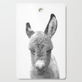 Black and White Baby Donkey Cutting Board