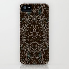 Earth Tones Paisley Mandala iPhone Case