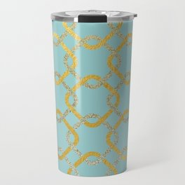 Silver and gold chains Travel Mug