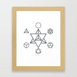 Merkaba and the Platonic Solids, Sacred Geometry Framed Art Print