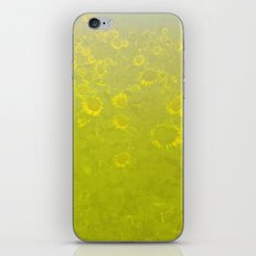 A Foggy Field of Golden Yellow iPhone & iPod Skin