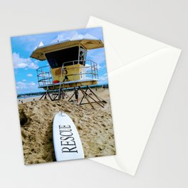 San Diego Beach Lifeguard Station by Reay of Light Stationery Cards