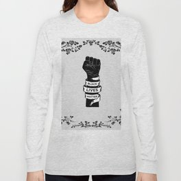 Black Lives Matter Power Fist Frame Long Sleeve T-shirt