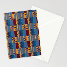 Colorful Kente Pattern Design Stationery Cards