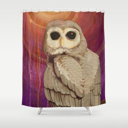 Skulking by Owl Light Shower Curtain