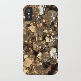 Golden Pyrite Mineral iPhone Case