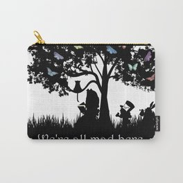 We're All Mad Here III - Alice In Wonderland Silhouette Art Carry-All Pouch