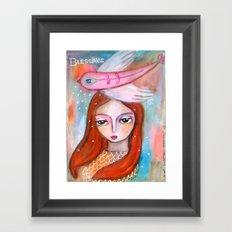 Blessings - girl art Framed Art Print