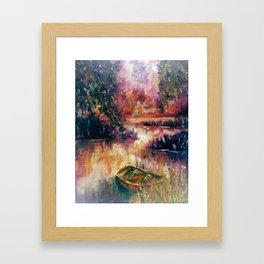 Lakeside dream Framed Art Print