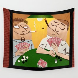 Poker Faces Wall Tapestry