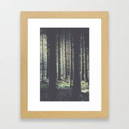 Forest feelings Framed Art Print