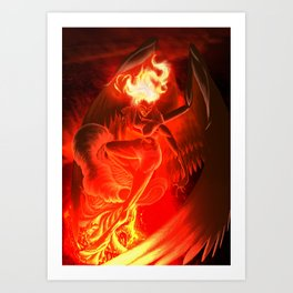 Lumania Bound Conflagration, The Amber Angel Art Print