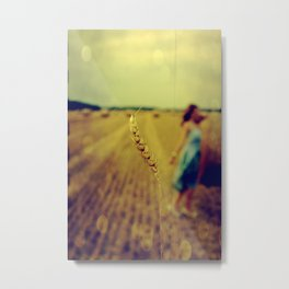 straw Metal Print