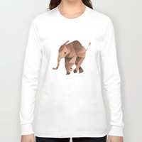low poly Long Sleeve T-shirts featuring Low Poly Elephant by The animals moved to - society6.com/dian