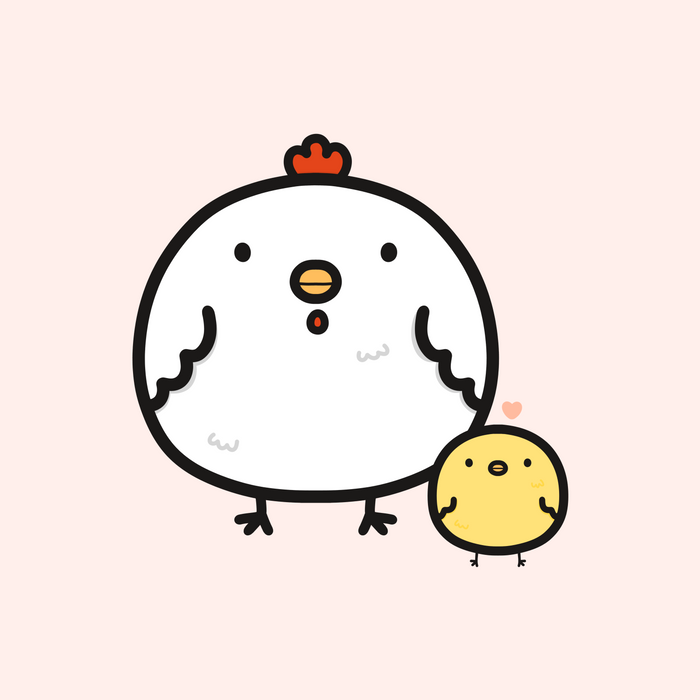Cute chick and chicken Comforters