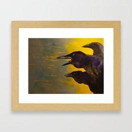 Just Caws Framed Art Print