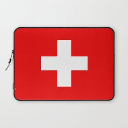 Flag of Switzerland - Authentic (High Quality Image) Laptop Sleeve