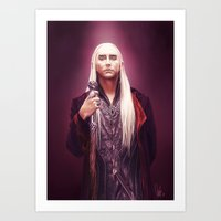 thranduil Art Prints featuring Thranduil by tillieke